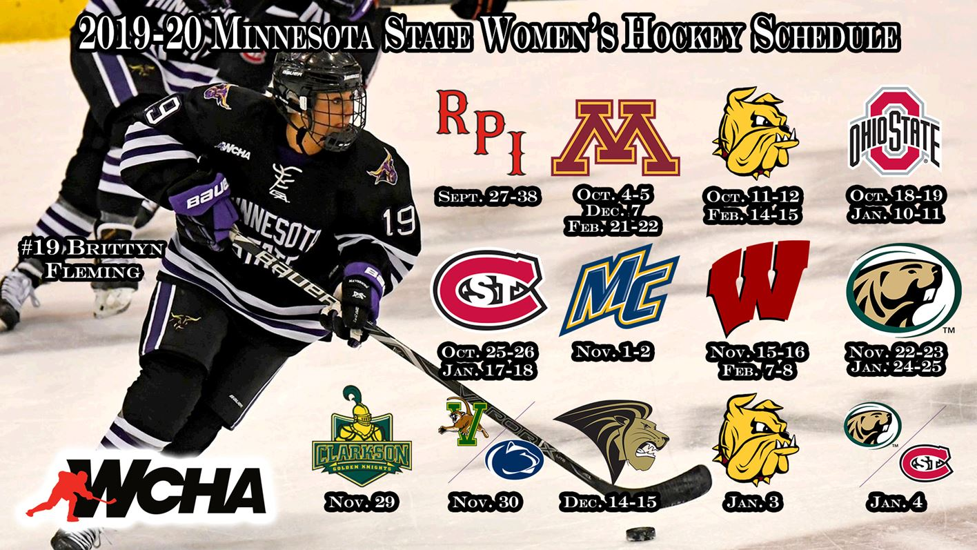 Women S Hockey Unveils Schedule For 2019 20 Minnesota State
